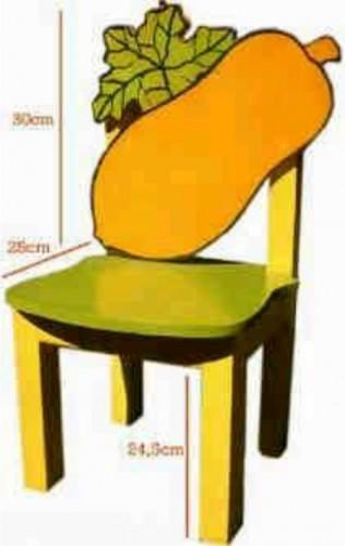 kursi tk paud motif buah